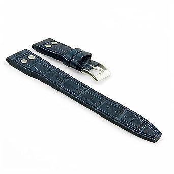c5643a6af DASSARI Aviator Croc Embossed Leather Watch Strap for IWC Big Pilot |  Amazon.com