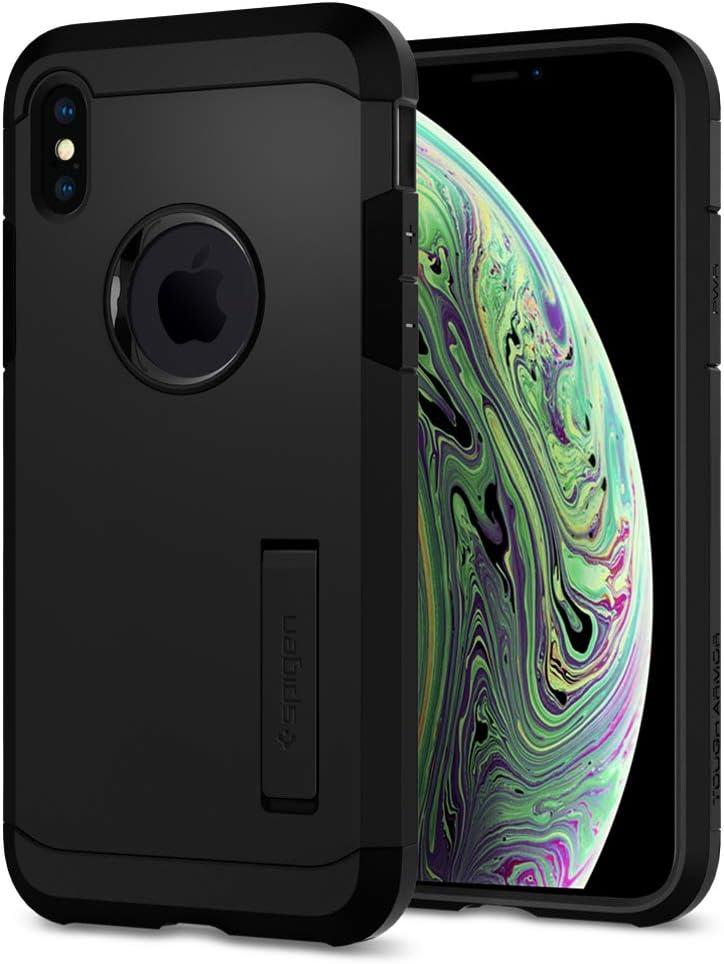 Spigen Tough Armor Designed for Apple iPhone Xs Case (2018) / Designed for Apple iPhone X Case (2017) - Matte Black
