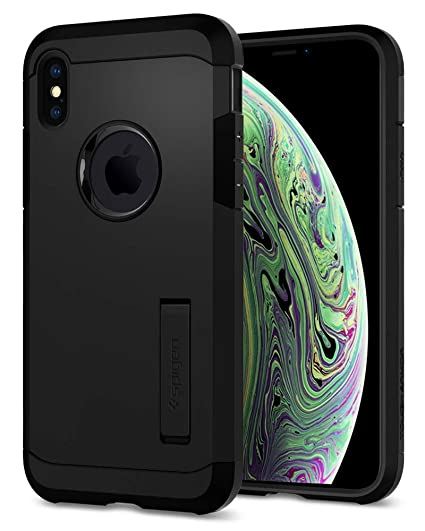 double coupon pas cher à vendre Meilleure vente Spigen Tough Armor Cover iPhone XS, Cover iPhone X Cavalletto ed Extreme  Heavy Duty Protezione per Apple iPhone XS/iPhone X - Nero