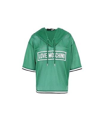 Love Moschino T-Shirt Donna W 4 G30 01 M 3845 S59 Verde traforata Corta 2b50e705549
