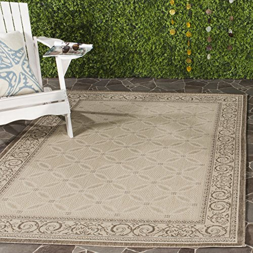 Safavieh Courtyard Collection CY1502-3001 Natural and Brown Indoor/ Outdoor Area Rug (9' x 12')