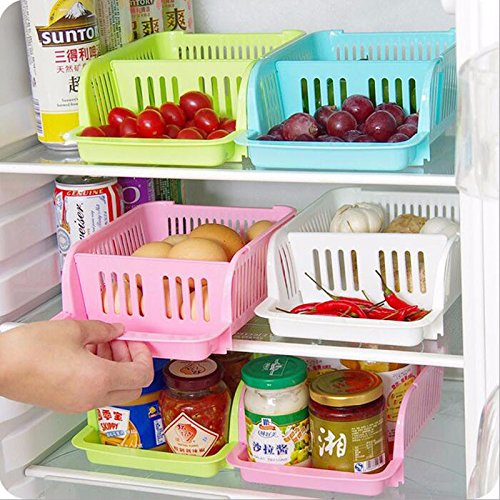 Refrigerator 2 Layer Food And Beverage Storage Baskets