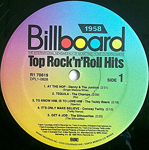 Billboard Top Rock 'n' Roll Hits: 1958 by Rhino Records