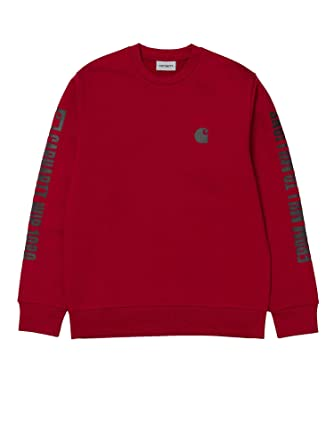 07dc3bd62240 Carhartt - Sweat-Shirt - Homme Rouge Rouge - Rouge - Small  Amazon ...