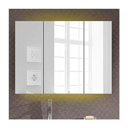 Mobile Specchio Da Bagno.Maryyun Mobile Specchio Da Bagno Bianco Acciaio Inox