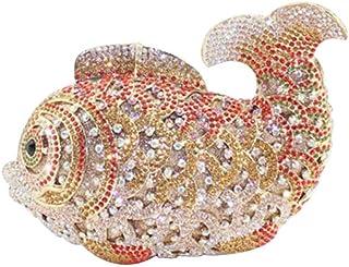 Mini Sac à Main Diamant Double Face En Forme De Poisson / Mode Sac De Soirée / Sac D'embrayage