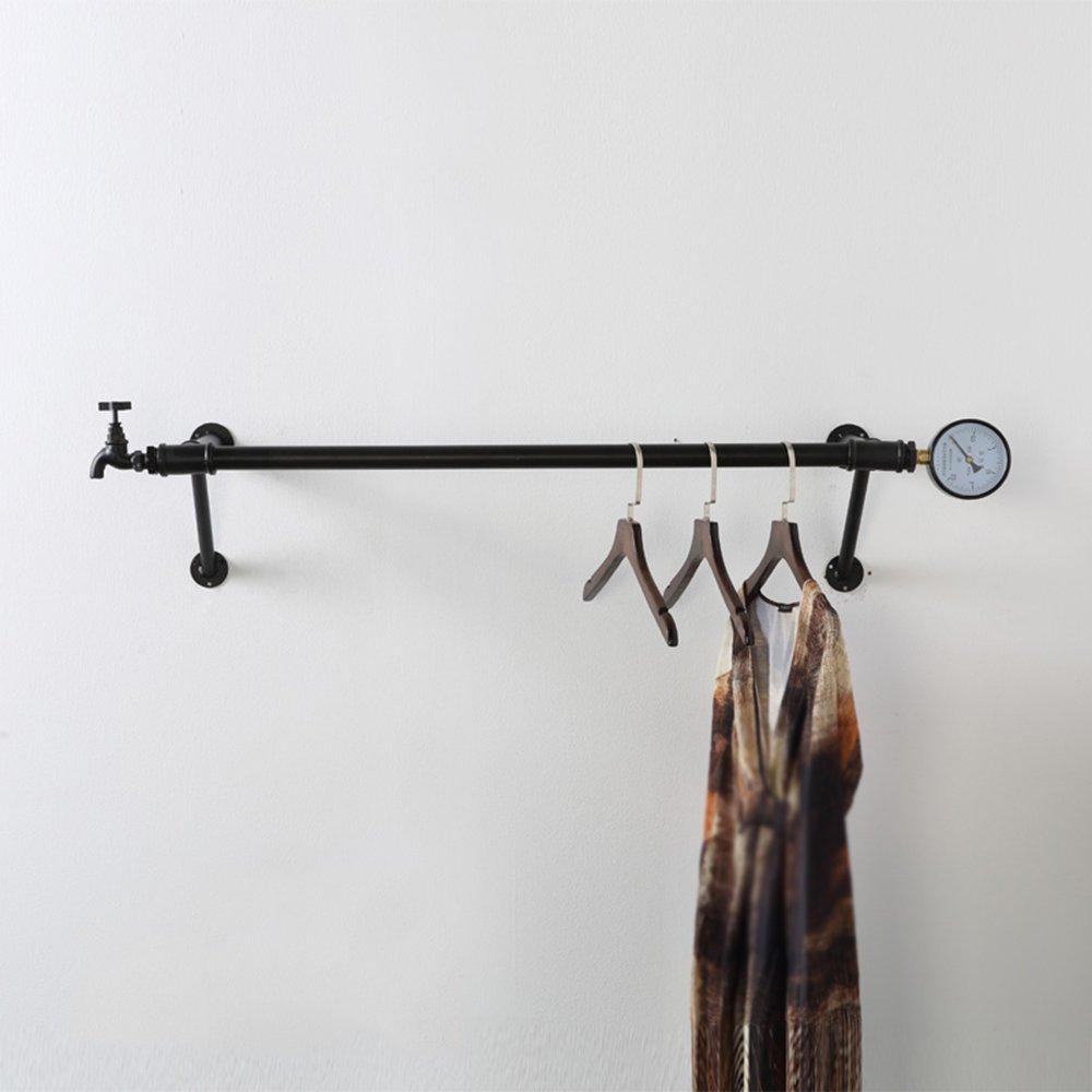 Wall Hangers / Hose Side Racks / Clothing Store Walls Vintage Hose Wall Hangers / Walls Shelves / Iron Hangers /Bold water pipe / load-bearing good /(70/90/11028cm) ( Size : 9028cm )
