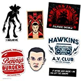 DAFT Stranger and Things Ultimate Stocking Stuffer Gift Sticker Pack (7 Stickers)