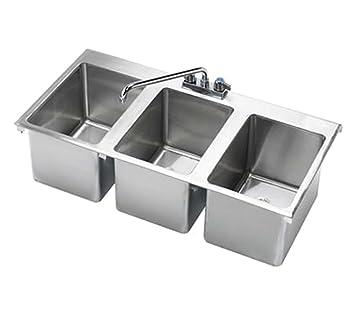 Krowne 36u0026quot; X 18u0026quot; Three Compartment Drop In Hand Sink ...