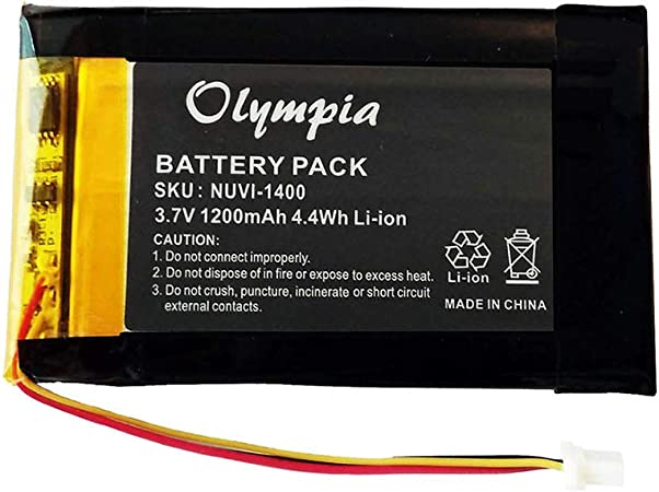 1200mAh, 3.7V, Lithium Polymer 2-Pack Garmin Nuvi 1490 Battery with Tools Kit