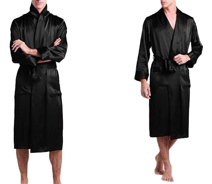 Pijamas de satén de Seda para Hombre Pijama Pijamas Batas Bata de baño Camisón Loungewear U.S.S, M, L, XL, 2XL, 3XL Plus_5Colores: Amazon.es: Ropa y ...