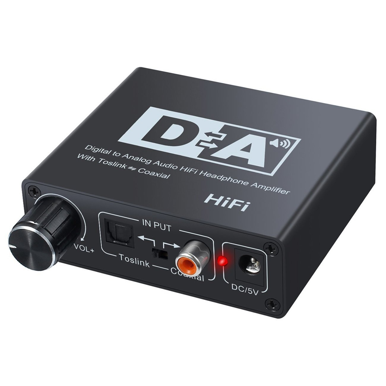 Easy-Link 192kHz DAC Converter Digital to Analog Audio Converter Volume Control Digital Coaxial Toslink to Analog Stereo L/R RCA 3.5mm Audio Adapter for Blu-ray DVD TV Sky HD Xbox HiFi Systems