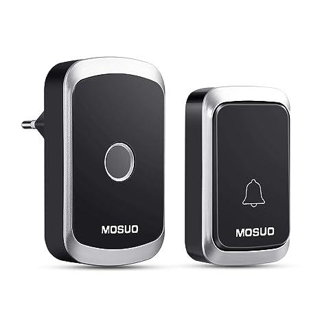 campanello senza fili da esterno  MOSUO Campanello Senza Fili da Esterno, Campanello Wireless Doorbell ...