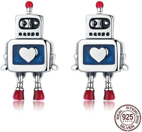 THTHT Pendientes De Plata Esterlina para Damas Simples Robot Lindo Moda Temperamento De Gama Alta Exquisito Creativo Retro Joyería Personalizada: Amazon.es: Hogar