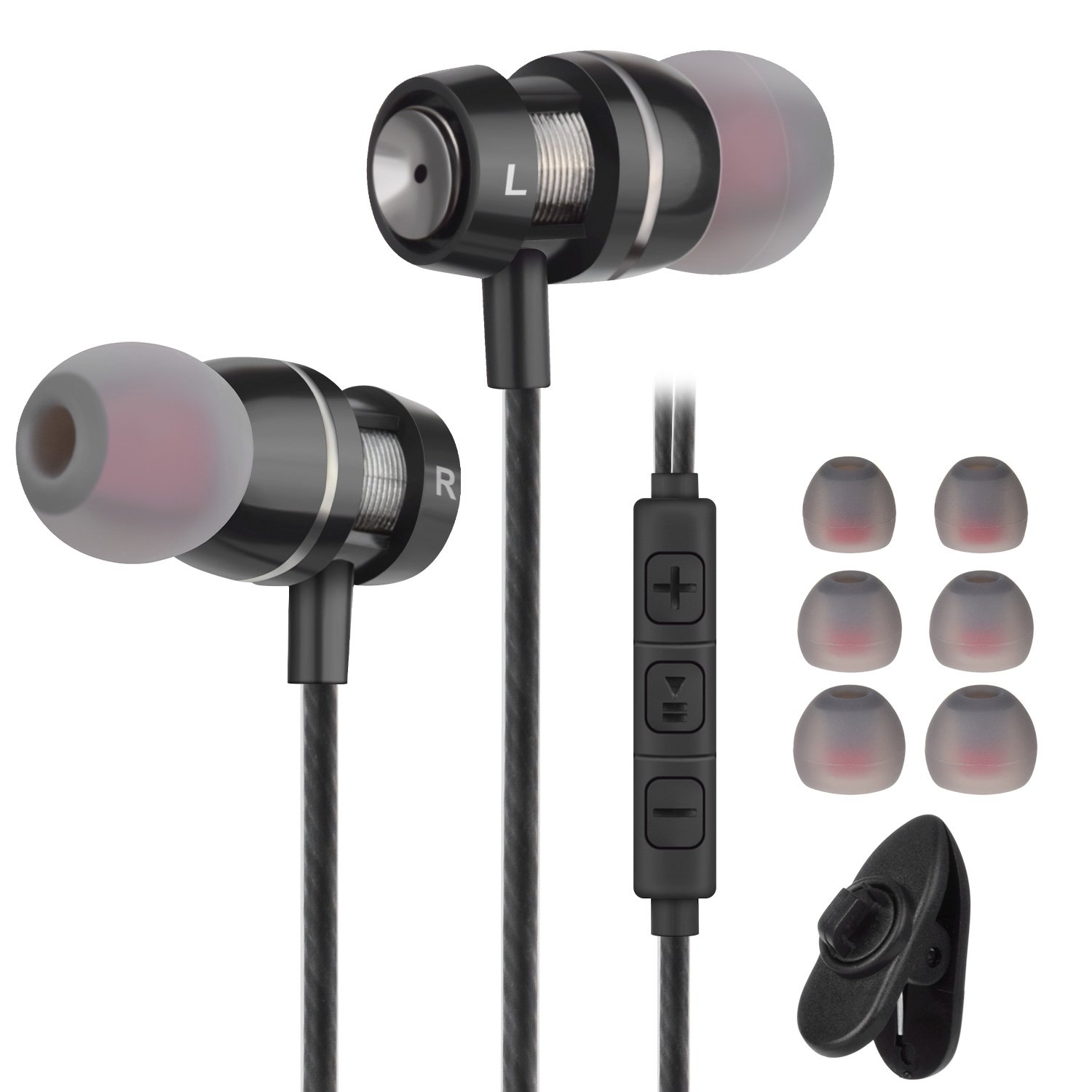 Ear Buds Wired Earphones Earbuds With Remote And Mic 3.5mm In Ear Earbud Headphones With Microphone And Volume Control Stereo Noise Isolating For Android Phones, iPhone, iPod, iPad, Samsung,HTC,MP3 by Gsebr
