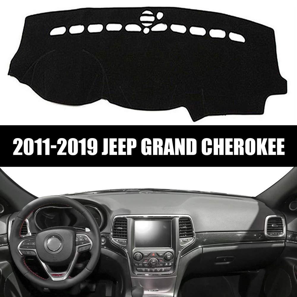 Yeeoy Dashmat Dashboard Cover Dash Pad Car Mat Carpet Sun Shade Fits Jeep Grand Cherokee 2011-2019