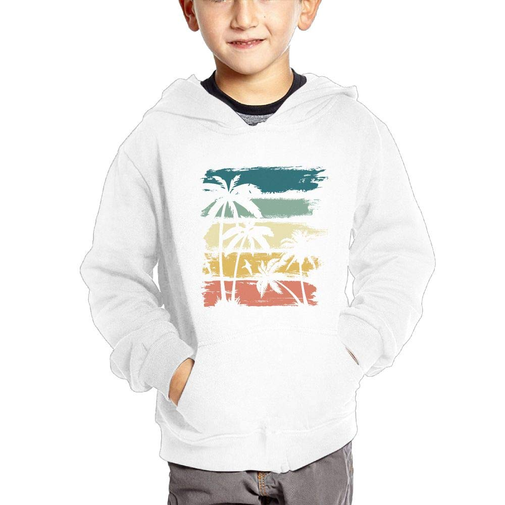 JIANGSHAN Vintage Hawaiian Islands Fashion Hooded Pocket Sweater for Children Spring//Autumn//Winter Outfit Long-Sleeved Hoodie