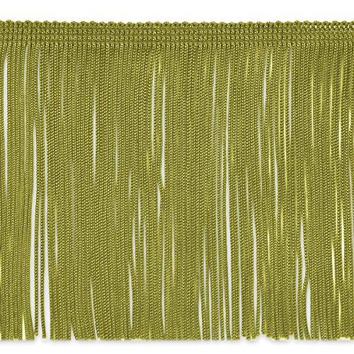 (Expo International 6-Inch Chainette Fringe Trim Embellishment, 20-Yard, Sage)