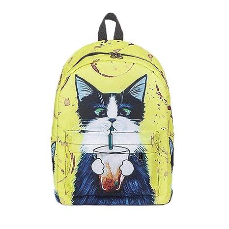 Outsta Mochila para gatos, 2018, mochilas de dibujos animados para mujer, lona de