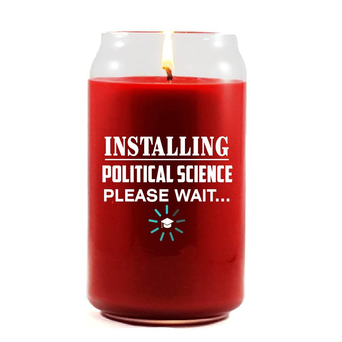 Installing POLITICAL SCIENCE Please Wait College Degree - Scented Candle