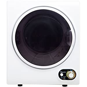 Magic Chef Compact Electric MCSDRY15W 1.5 cu. ft. Laundry Dryer, White