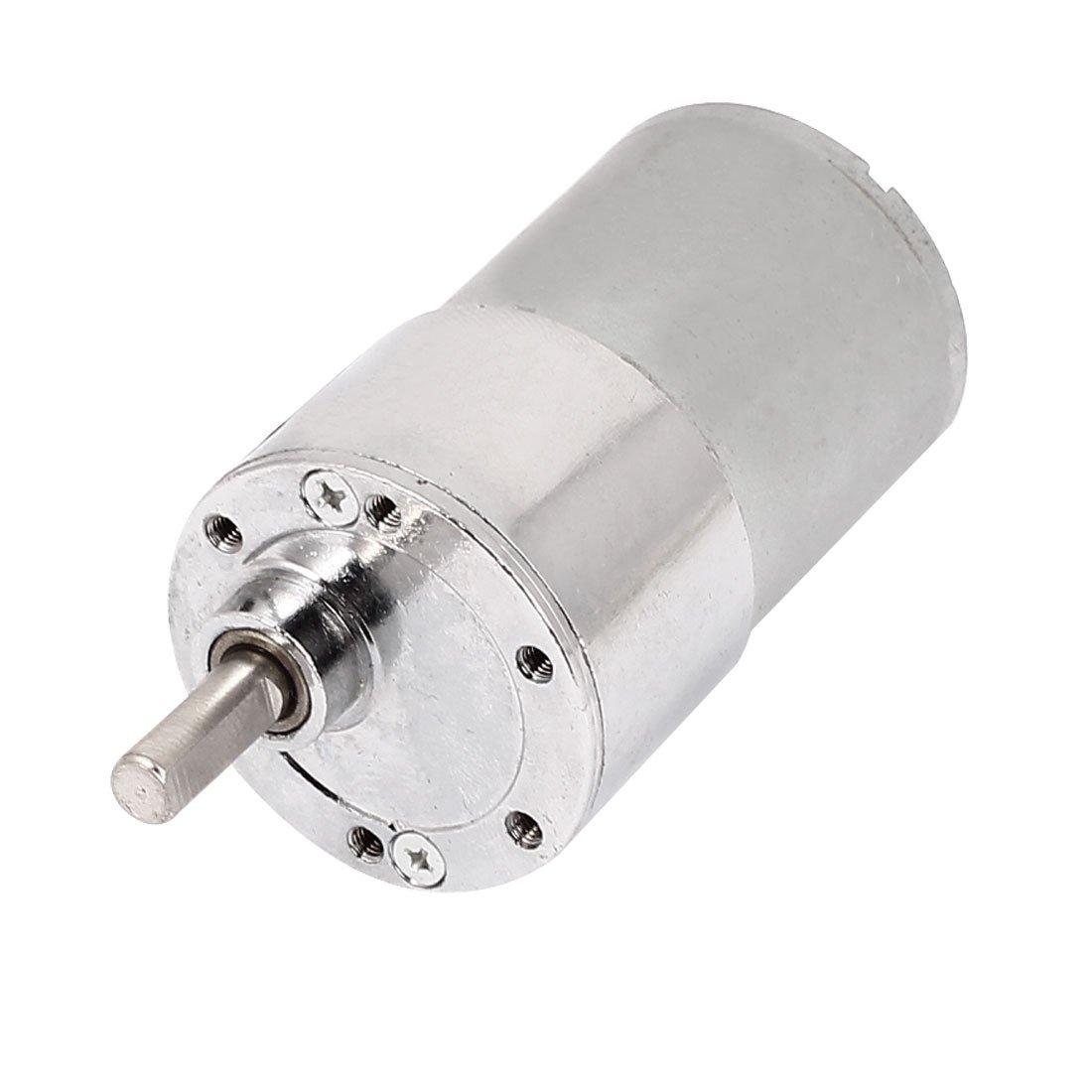 uxcell DC 12V 150RPM 6mm Shaft 37mm Body Dia Cylinder Shape Gear Box Motor