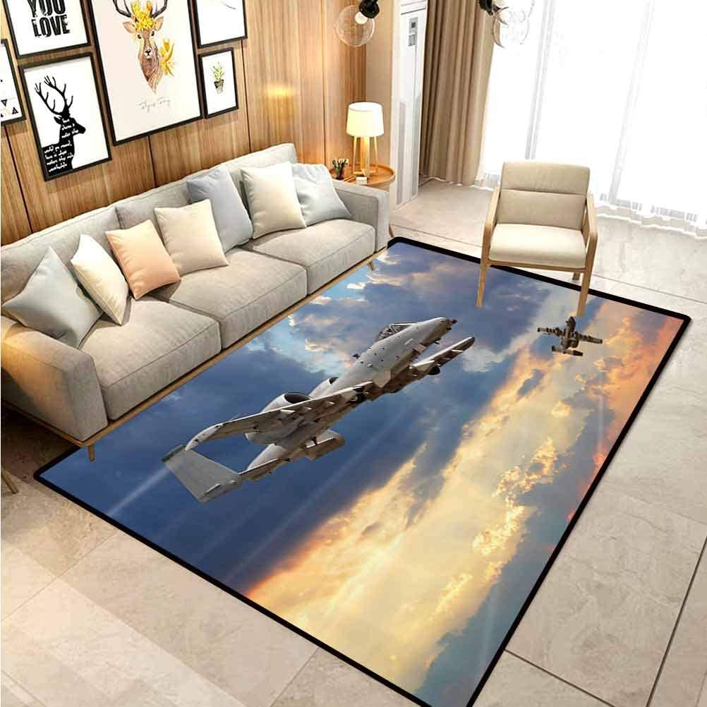 Amazon Com Airplane Decor Children Boys Girls Bedroom Rugs Peacekeepers Mission Jet Up International Military Force Combat Metalic Flight Picture Home Floor Carpet Blue Silver 6 X 8 Ft Kitchen Dining
