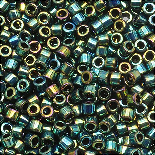 Miyuki Delica Seed Beads 11/0 Metallic Teal Iris DB027 7.2 Grams