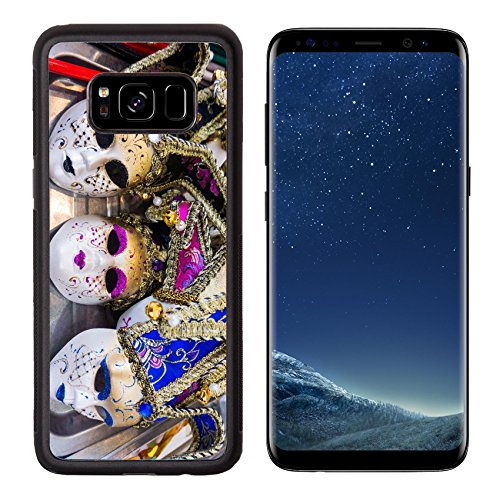 Cultural Costumes Of Italy (Luxlady Premium Samsung Galaxy S8 Aluminum Backplate Bumper Snap Case IMAGE ID: 35896176 Venetian masks Masks in Venice Italy)
