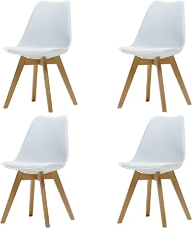 sillas modelo escandinava blanca