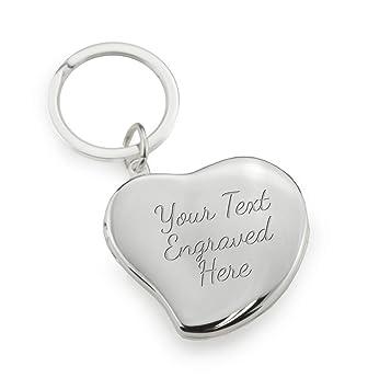 Amazon.com: Personalizado Corazón Locket Llavero puede ser ...