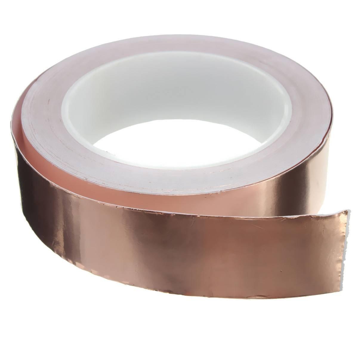 Mackur Copper Foil Tape for EMI Shielding Tape Copper Tape Self-adhesive Tape 1PCS size 20mm*20m #1