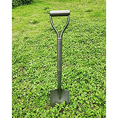 Z & G D Handle Shovels for Digging - Mini Garden Spade Shovel with Short Handle - D-Grip Round Point Spade Shovel All Metal Straight Spade Shovels 29.6inch : Garden & Outdoor