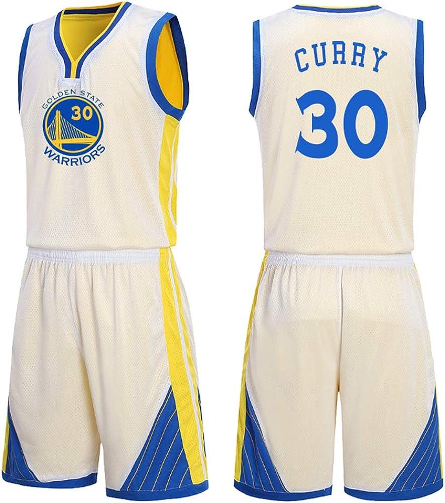 Es un Regalo para los fanáticos de # 30 Stephen Curry Golden State Warriors Traje de Baloncesto sin Mangas Top de Verano Chaleco Fresco Camisas Estudiantes Adolescentes Forma Adulta: Amazon.es: Ropa y