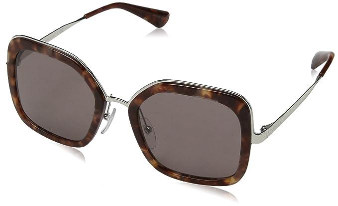 Prada Damen Sonnenbrille 0PR57US UE06X1, Braun (Pink Havana/Purple Brown), 54