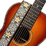 Amumu Adjustable Hootenanny 2 Inches Wide Woven Guitar Strap Yellow