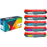 5 Cartucce toner Do it Wiser ® TN-241 TN-245 in sostituzione di Brother HL 3140 CW | HL 3150 CDN | HL 3150 3170 CDW | DCP 9015 9020 CDW | MFC 9130 9140 CDN | MFC 9130 CW | MFC 9330 9340 CDW