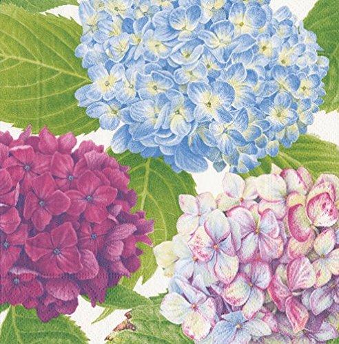 (Caspari Napkins Floral Wedding Paper Napkins Cocktail Napkins Blue Hydrangea Pk 40)