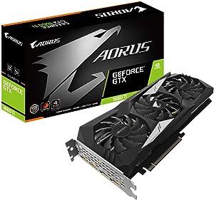 Gigabyte Technology GV-N166TAORUS-6GD GeForce AORUS GTX 1660 Ti 6GB DDR6 - Tarjeta gráfica ( PCI Express 3.0 x 16, HDMI/DP, 4K), Negro/ Plata