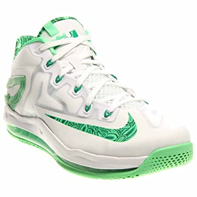 Nike Mens Air Max Lebron XI Low EASTER Basketball Shoes White/Lite LCD  Green 642849