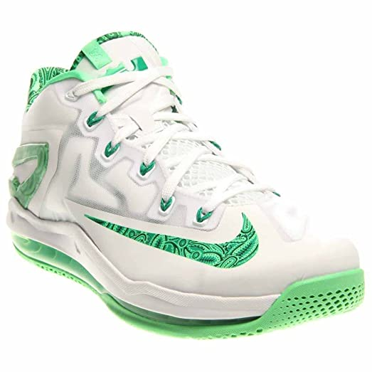 Nike Men's Max Lebron XI Low, EASTER-WHITE/LT LCD GREEN-LUCID
