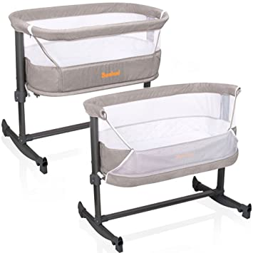 Cuna auxiliar Baninni Nesso, cama para bebés, tipo moisés, con altura e Inclinación ajustables, color arena: Amazon.es: Bebé