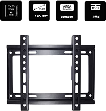 Soporte de pared para televisor, ultrafino, para 14 19 22 26 28 29 32 pulgadas, TV, LG 3D, LCD, LED, Plasma, capacidad de carga máxima: 200 mm (200 x 200 mm): Amazon.es: Electrónica