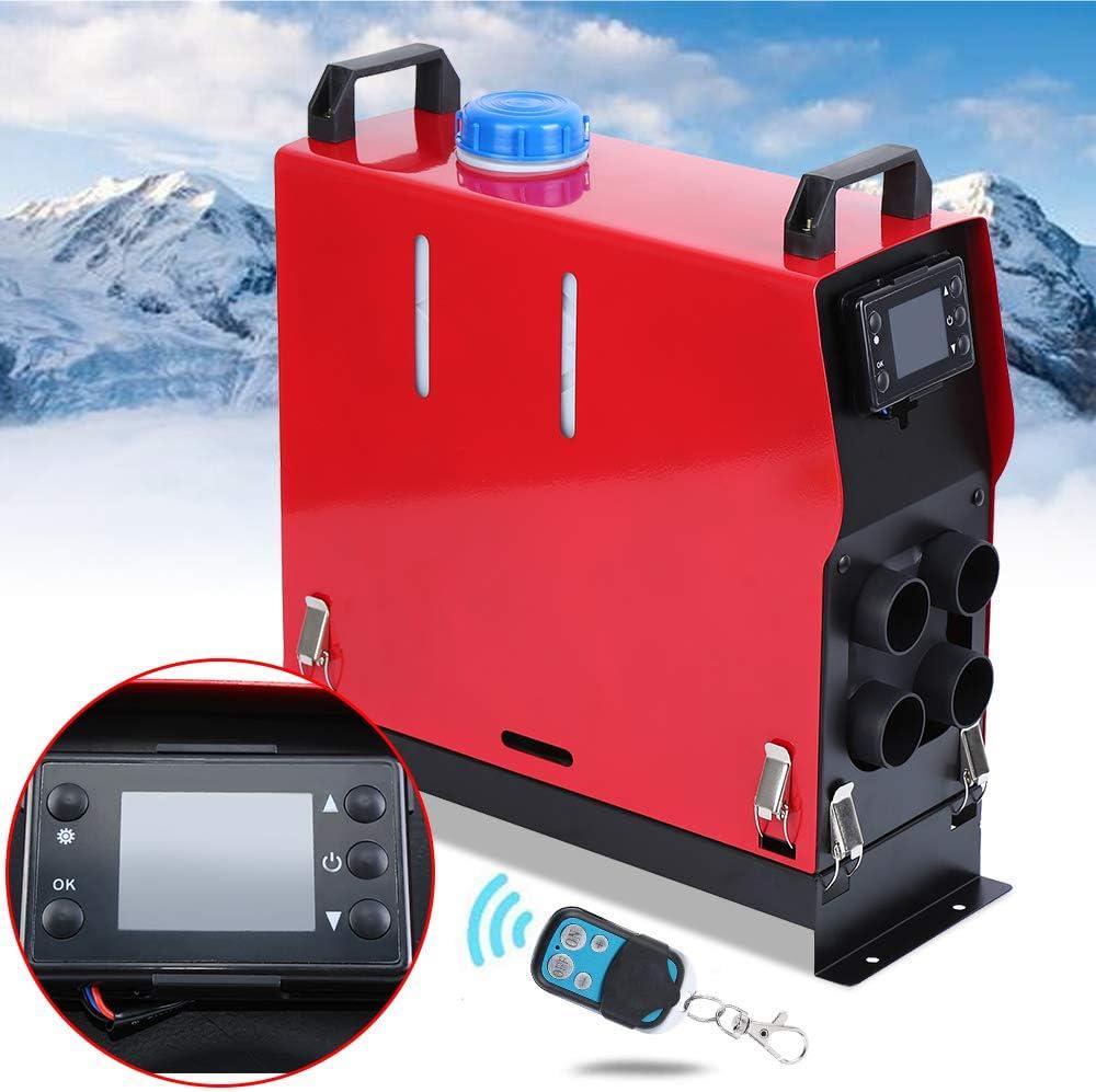 Ambienceo Calentador de Aire Diesel 12V 5KW Calentador de Combustible Calefacción Estacionaria Diesel Calentador Coche Diesel Aire Calentador de Estacionamiento Control Remoto con Interruptor LCD