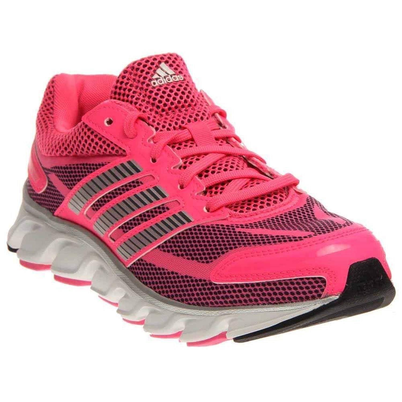 Adidas Girl`s Youth Powerblaze Running Shoe, 6, PINK / WHITE