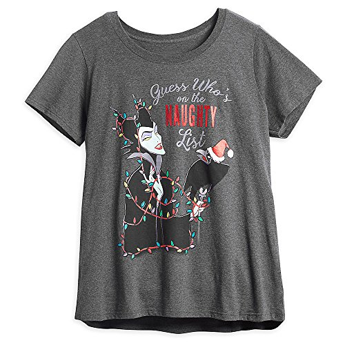 Disney Maleficent Holiday T-Shirt for Women Plus Size LADIES 4XL (Disney Female Villains)