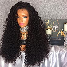 Jolitime Hair Big Curly Hair Wigs Heat Resistant Full Head Synthetic Lace Front Wig 180 Density Kinky Curly Wigs 24Inch