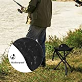 Sue Supply Slacker Folding Chair Portable Tripod Stool Case for Outdoor Camping Walking Hunting Hiking Fishing Travel 230 lbs Capacity Black Color Chairs Lightweight