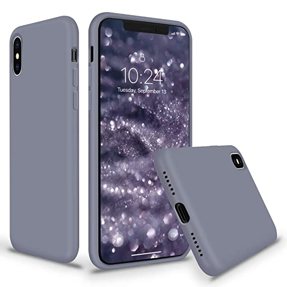 best loved 742e7 27fd7 SURPHY Silicone Case for iPhone Xs Max, Slim Liquid Silicone Protective  Phone Case Cover (Full Body Thin Case with Microfiber Lining) Compatible  with ...
