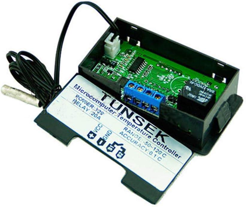 Rlorie 12V//24V//220V Rel/è Digitale Regolatore di Temperatura Termostato,termostato calibrazione,centigradi Display Multiuso con sonda sensore Uscita rel/è Riscaldamento e Raffreddamento